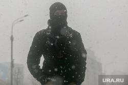 Зима. Москва, снег, маска, зима, метель, пурга, мужчина, вьюга, улица, холод