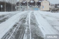 Зимняя дорога. Челябинск, зима, метель