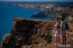 Виды Крыма, туризм, крым, туристы, лето, черное море, вид с высоты, отдых, мыс фиолент