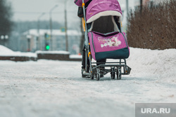 Гололед, ледяной дождь в Перми., зима, гололед