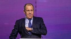 Международный Форум Добровольцев в Москве на ВДНХ. Москва, портрет, лавров сергей на экране