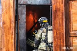 Пожар в историческом здании по ул. Дзержинского 34. Тюмень, пожарный, пожар