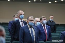 Конференция регионального отделения партии Единая Россия. Курган, депутаты, масочный режим, медицинская  маска