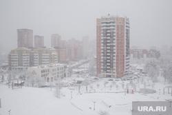 Снегопад в Москве. Москва, зима, новостройка, снегопад