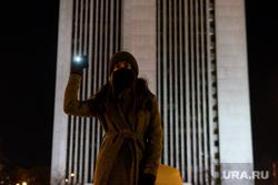 Акция с фонариками, Октябрьская площадь