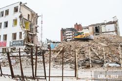 Виды Екатеринбурга, снос здания, конструктивизм, здание промэкт, уральский областной промышленно-экономический и кооперативный техникум, промэкт