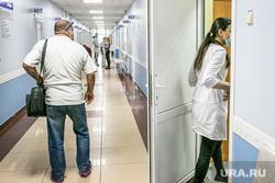 Поликлиника №3. Тюмень, поликлиника, коридор больницы