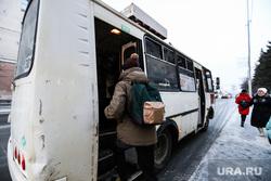 Мосгортранс. Курган, пассажир, подросток, автобус, зима, автбусная остановка