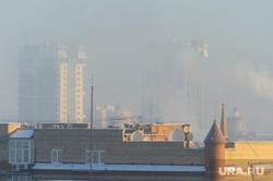 Гало, радуга, смог, мороз. Челябинск, туман, погода, природа, смог, дымка, климат, мороз, экология, башня свободы