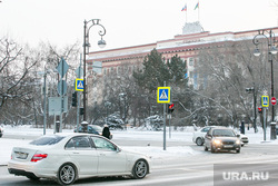 Виды города, зима. Тюмень, областная дума, улица республики, областная дума тюмени