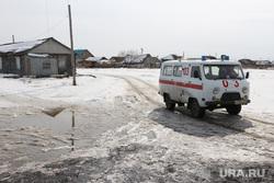 День депутата в Альменевском районе, лужа, деревня, альменево, дорога в снегу, скорая помощь, село