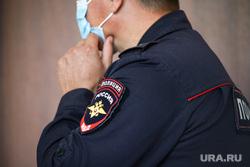 Судебное заседание по уголовному делу бывшего главы Кетовского района Носкову Александру. Курган, медицинская маска, полиция, масочный режим