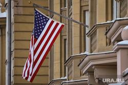 Виды, здания, министерства. Москва, сша, флаг сша, посольство сша, флаг америки