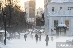 Виды Екатеринбурга, зима, поземка, холода, метель, пурга, город екатеринбург, проспект ленина, плотинка, мороз, холод