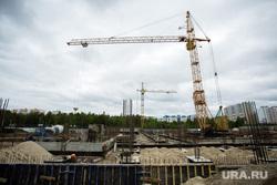 Инспекция дорог Главой города совместно с Краснояровой Н.А. Сургут, подъемный кран, стройка