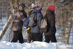 Мороз. Курган, снег, подростки, дети, ученики, зимние каникулы, зима, школьники, школьные каникулы