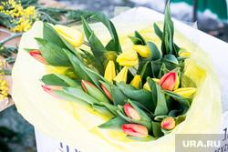 Пешеходы. Тюмень, тюльпаны, цветы, 8 марта