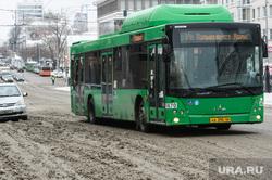 Виды Екатеринбурга, автобус, общественный транспорт, маршрут1, улица карла либкнехта, снег на дороге, снег в городе, грязный снег, нечищенная дорога, неубранный снег