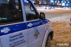 Акция Навального с фонариками, 14.02.2021, г. Пермь, полицейская машина, полиция пермь
