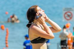 Муниципальный пляж «Первоозерный». Челябинск, лето, жара, пляж, отдых, зной, озеро, пляжный сезон