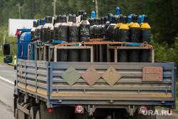 Клипарт. Екатеринбург, огнеопасно газ, грузовик, газовые баллоны