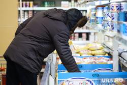 Торговый центр. Курган, продукты, покупатели, цены, супермаркет, продуктовая корзина, магазин, тележка с продуктами, покупки, покупатель, цены на продукты, продукты питания, замороженая продукция