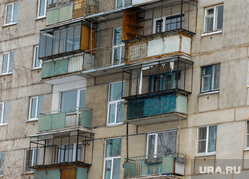 Дом по улице Карла Маркса 164 в Магнитогорске, где год назад произошел взрыв. Магнитогорск. Челябинская область, балконы, карла маркса 164, дом где был взрыв
