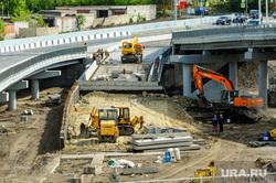 Открытие дорожной развязки по улице Братьев Кашириных. Челябинск, строительство дороги, строительная техника