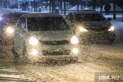 Акция с фонариками. Курган, снег, автомобиль, непогода, метель, плохая погода, плохая видимость, фары, зима