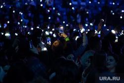 Церемония вручения ежегодной премии «Доброволец России - 2019». Сочи, концерт, зрительный зал, публика, огоньки, толпа, международный форум добровольцев