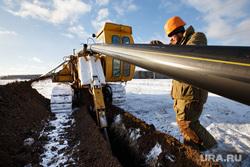 Прокладка нового газопровода высокого давления. Газпром газораспределение Екатеринбург, траншея, газопровод, прокладка газопровода, монтаж газопровода, газовый трубопровод, подземная прокладка