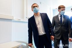 Алексей Текслер на строительстве второй очереди инфекционной больницы. Челябинск, текслер алексей, семенов юрий