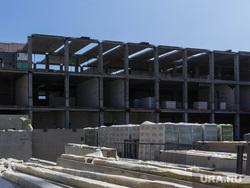 Строительство школы в 145 микрорайоне. Магнитогорск, строящееся здание, стройка