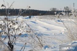 Виды Кунгура. Пермский край, деревня, зимняя дорога, зимнее поле