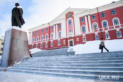 Виды Новоуральска, Свердловская область, памятник ленину, администрация новоуральска
