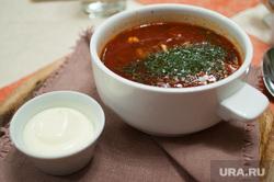 Постное меню в ресторанах Екатеринбурга, суп, борщ, еда