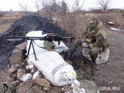 Фотографии с передовой. Украина. ДНР, пулемет, война, ополченец, пулеметная точка