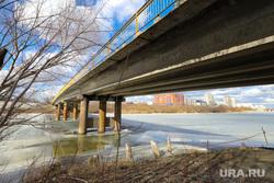Река Тобол. Разное. Курган, половодье, кировский мост, наводнение, паводок, весна