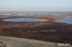 Природа Ямало-Ненецкого автономного округа, север, тундра, арктика, озеро, водоем, ямал, поселок тазовский, природа ямала, вид сверху, осень, с квадрокоптера