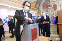 Конференция регионального отделения партии Единая Россия. Курган, лисовский сергей, урна голосования