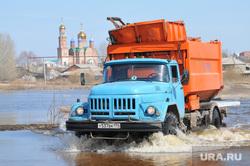 Паводок. Челябинская область, потоп, паводок, наводнение, грузовик