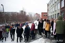 Учебная пожарная эвакуация в школах Екатеринбурга, эвакуация, выход из здания, школа, школьники, пожарная тревога