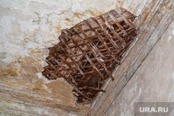 Оровайские казармы (памятник архитектуры). Екатеринбург, потолок рухнул