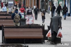 Виды Екатеринбурга, бродяга, пешеходная зона, улица вайнера, пешеходная улица, бедность, бедняк, нищий
