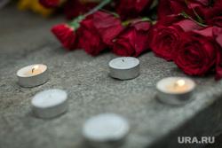 Посольство Бельгии. Москва, розы, свечки, цветы