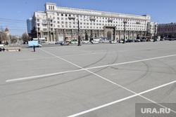 Разметка на площади Революции. Челябинск, разметка, площадь революции