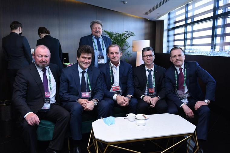 Встреча Андрея Симановского и Аркадия Дворковича на FIDE-2021. Екатеринбург