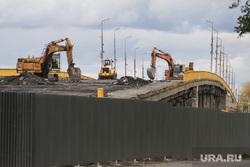 Ремонтные работы на мосту ЖБИ. Курган, мост, строительные работы, ремонтные работы, стройка, мост жби, ремонт путепровода жби
