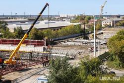 Строительство моста ЖБИ по проспекту Машиностроителей. Курган, строительные работы, мост жби, путепровод жби