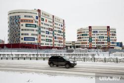 Город зимой. Сургут, роддом, перинатальный центр